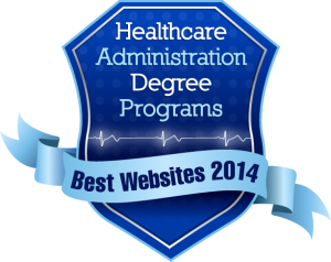 Badge - Healthcare Admin Degree Programs - Best Websites 2014